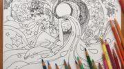 水晶画家・青山京古さん「自分自身の光とつながるアセンションぬり絵」無料ダウンロード